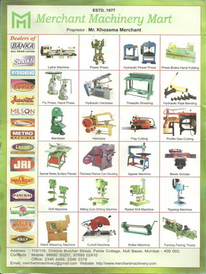 Machinery & Machine Tools Products, Mumbai, India