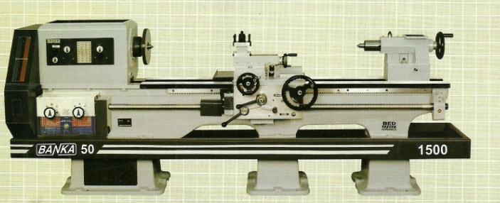 banka lathe machine metal turning machine 4.5 feet Banka Brand Lathe Machines, Mumbai, India