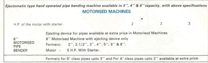 hydrobend motorized hydraulic pipe bending machines technical specifications Hydrobend Hydraulic Pipe Bending Machine