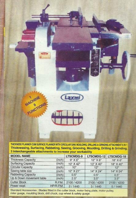 laxmi wood working randa machine surface planer 6 in 1 Surface Planner And Thickness Machine, Laxmi Brand