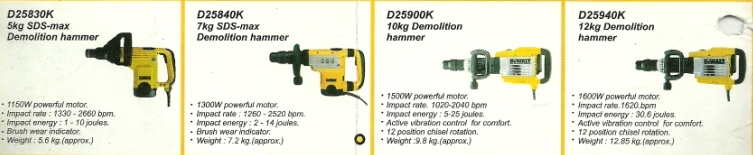 dewalt power tools demolition hammers drill machine mumbai india Dewalt Hand Power Tools, Hand Drills, Rotatary Drills, Cut Off Machine, Mumbai, India