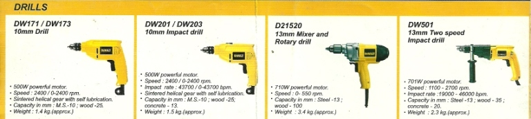 dewalt power tools hand drill machine mumbai india Dewalt Hand Power Tools, Hand Drills, Rotatary Drills, Cut Off Machine, Mumbai, India