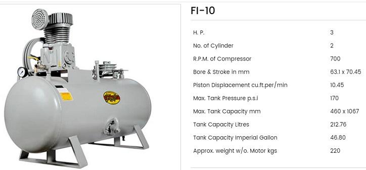 Fouji Air Compressor FI 10 Fouji Air Compressor Agent And Dealer In Mumbai, India