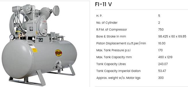 Fouji Air Compressor FI 11V Fouji Air Compressor Agent And Dealer In Mumbai, India