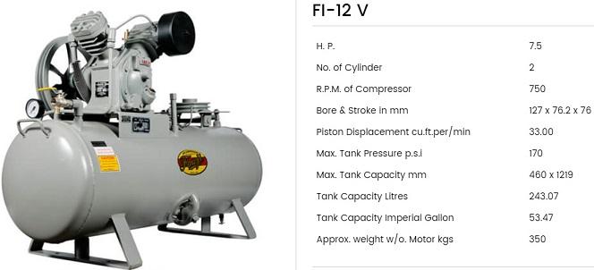 Fouji Air Compressor FI 12V Fouji Air Compressor Agent And Dealer In Mumbai, India