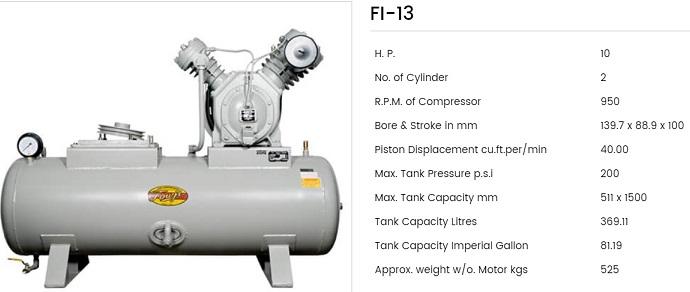 Fouji Air Compressor FI 13 Fouji Air Compressor Agent And Dealer In Mumbai, India