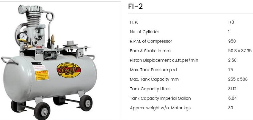 Fouji Air Compressor FI 2 Fouji Air Compressor Agent And Dealer In Mumbai, India