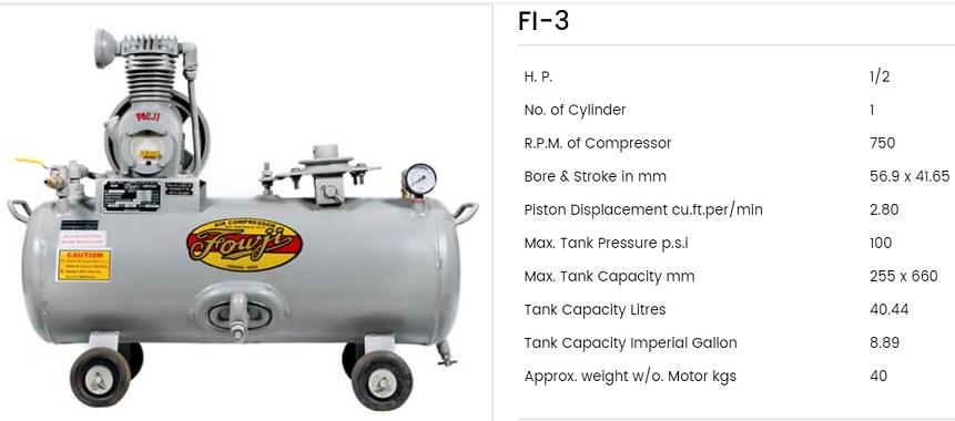 Fouji Air Compressor FI 3 Fouji Air Compressor Agent And Dealer In Mumbai, India