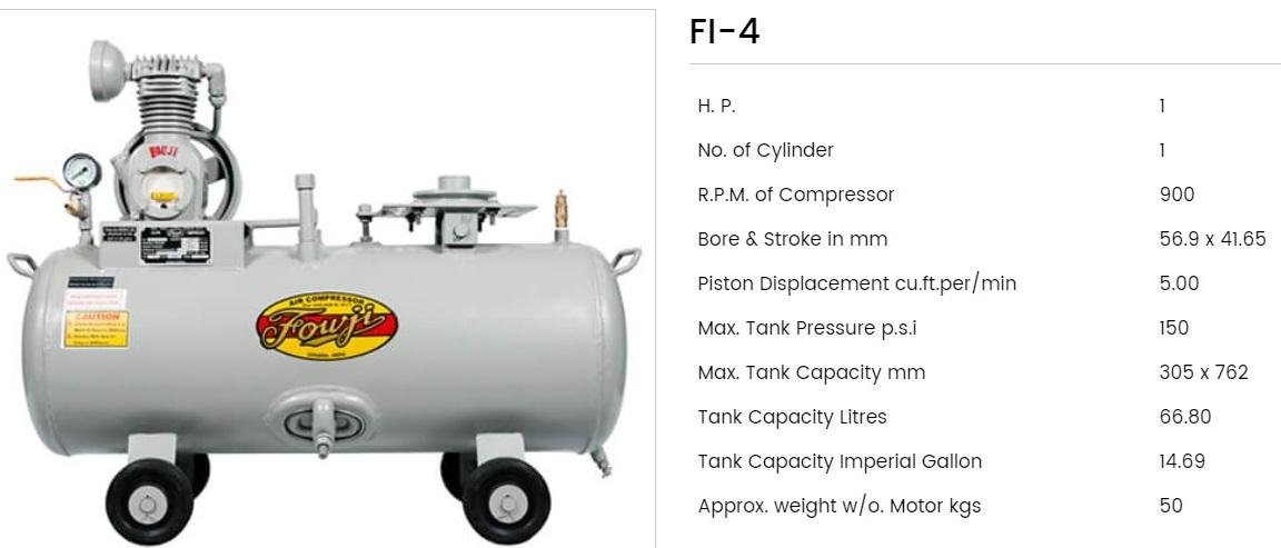 Fouji Air Compressor FI 4 Fouji Air Compressor Agent And Dealer In Mumbai, India