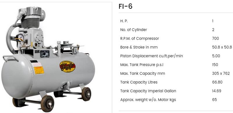 Fouji Air Compressor FI 6 Fouji Air Compressor Agent And Dealer In Mumbai, India