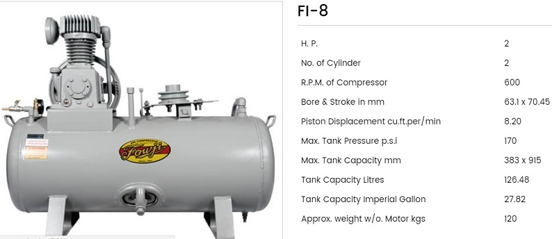 Fouji Air Compressor FI 8 Fouji Air Compressor Agent And Dealer In Mumbai, India
