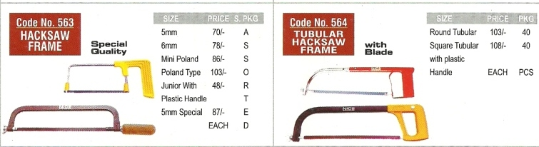 hacksaw frame hand tools workshop engineering tools Nice Brand   Workshop And Garage Hand Tools, Engineering Hand Tools, Mumbai