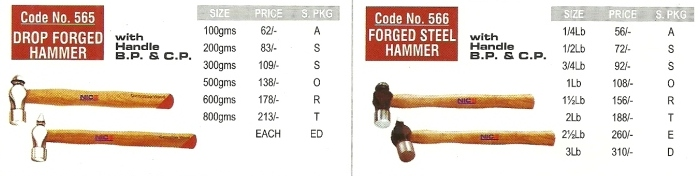 workshop machine hand tool steel forged hammer Nice Brand   Workshop And Garage Hand Tools, Engineering Hand Tools, Mumbai
