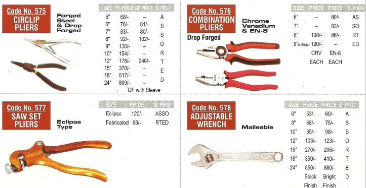 workshop machine hand tools pliers wrench Nice Brand   Workshop And Garage Hand Tools, Engineering Hand Tools, Mumbai