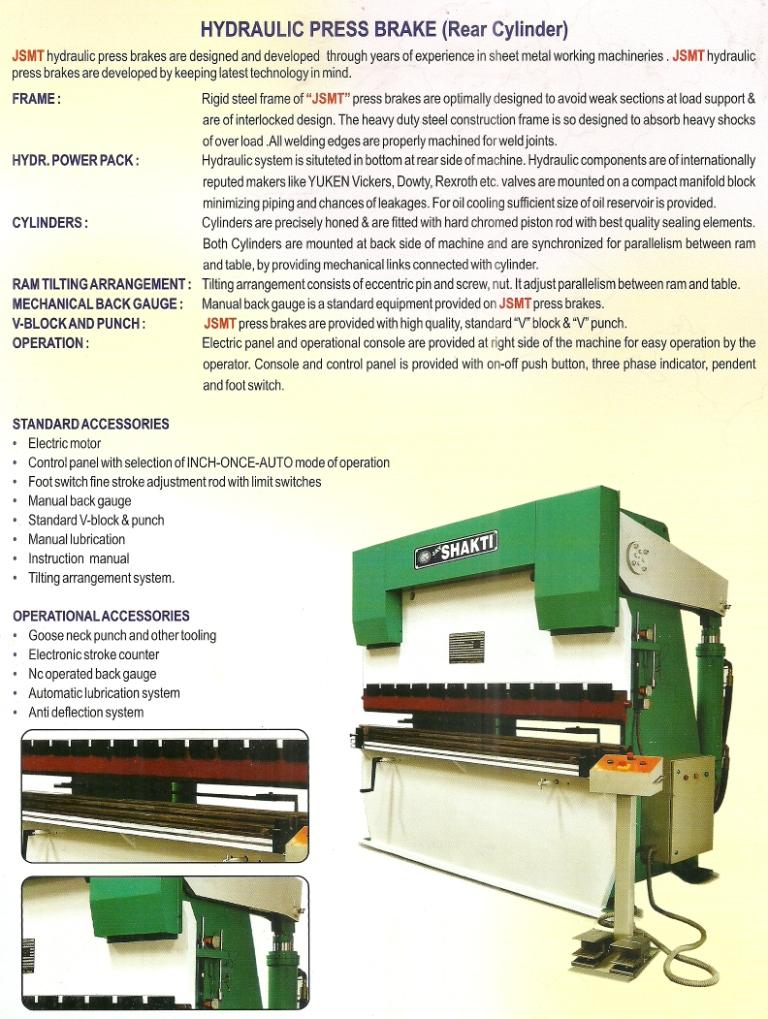 hydraulic press brake machine info Hydraulic Press Brake Machine, Mumbai India