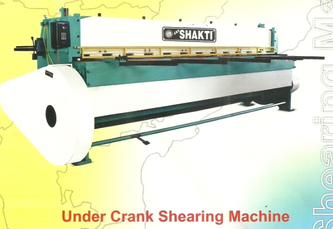under crank shearing machine Under Crank And Over Crank Shearing Machines, Mumbai India