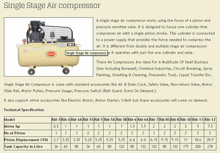 Rajdhani Air Compressor Machine