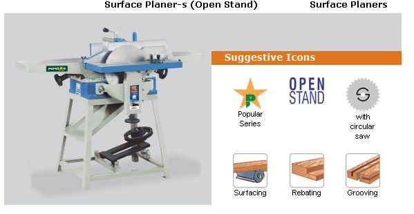 jai surface planner wood working JAI Brand Wood Working Machine