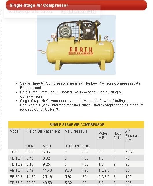single_stage_parth_air_compressor